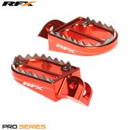 RFX Tooth Foot Pegs Orange KTM 85 03-17
