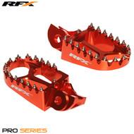 RFX Wide Foot Pegs KTM Orange fit 85 2018> 125 2016>