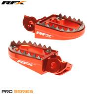 RFX Tooth Foot Pegs KTM Orange fit 85 2018> 125 2016>