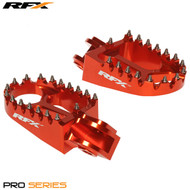 RFX Wide Foot Pegs KTM - Orange 50 65 Not 85 up to 2017 125 up to 2015