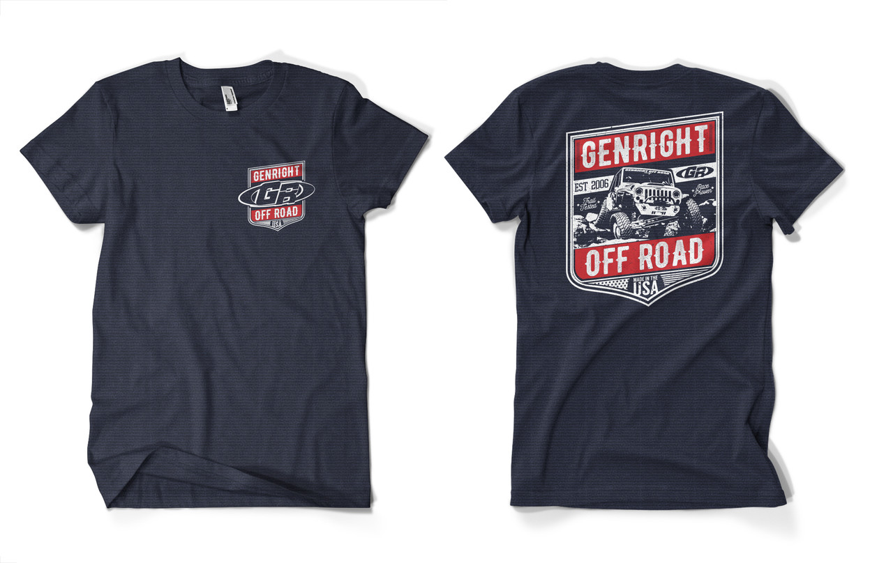 GenRight Jeep Tee - Charcoal