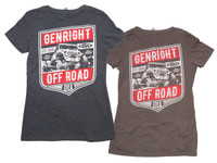 GenRight Womens V-Neck Jeep Tee