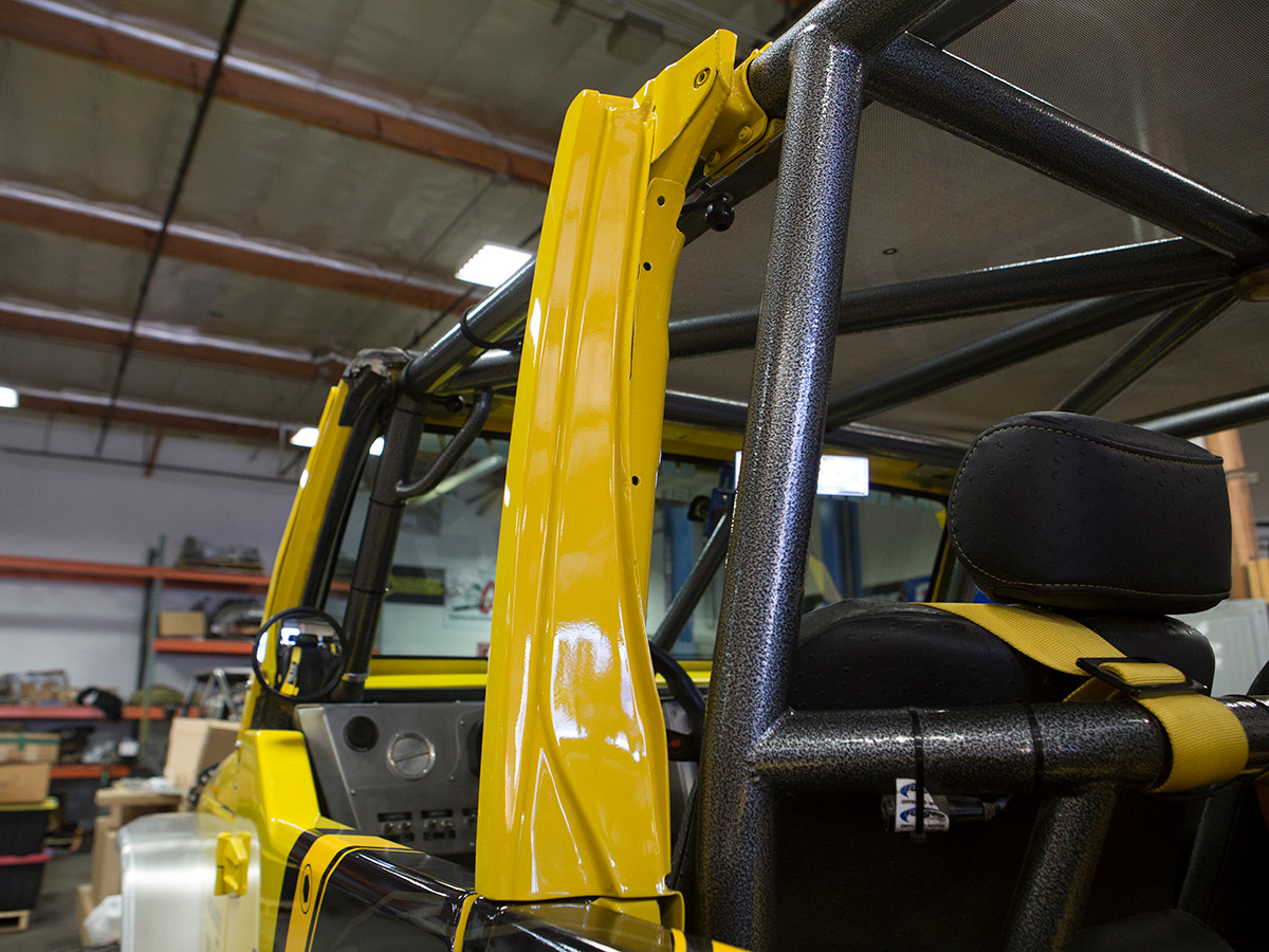 Another view of the B-Pillar re-installed so you can run your upper windows or hard doors.
