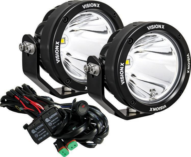 visionx xtreme performance 40 watt led 4 7 light cannon pair rh genright com Vision X HID Lights Vision X Light- Up Back