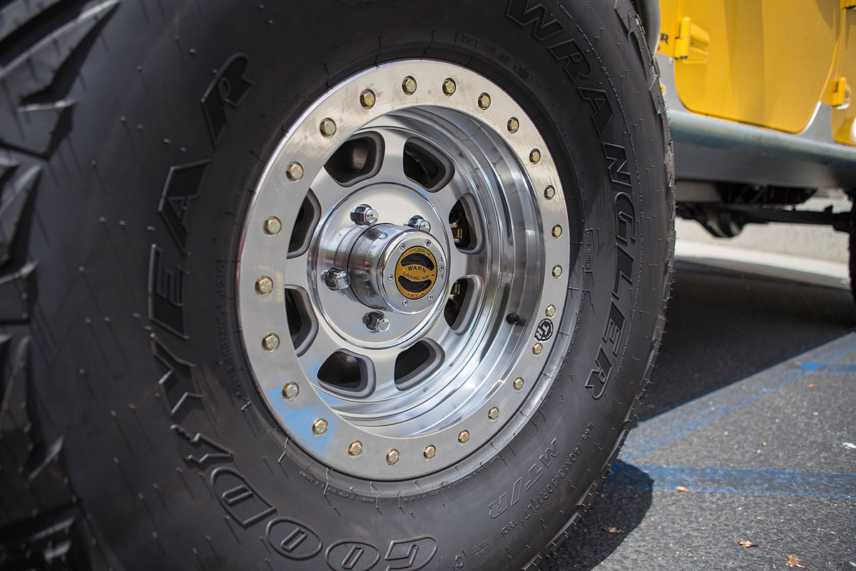 """Mounted on 40"""" Goodyear MTR"""