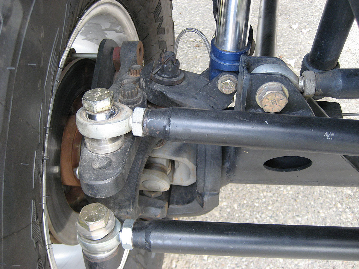 """Hi-Steer arm shown here with 3/4"""" heim on drag link"""