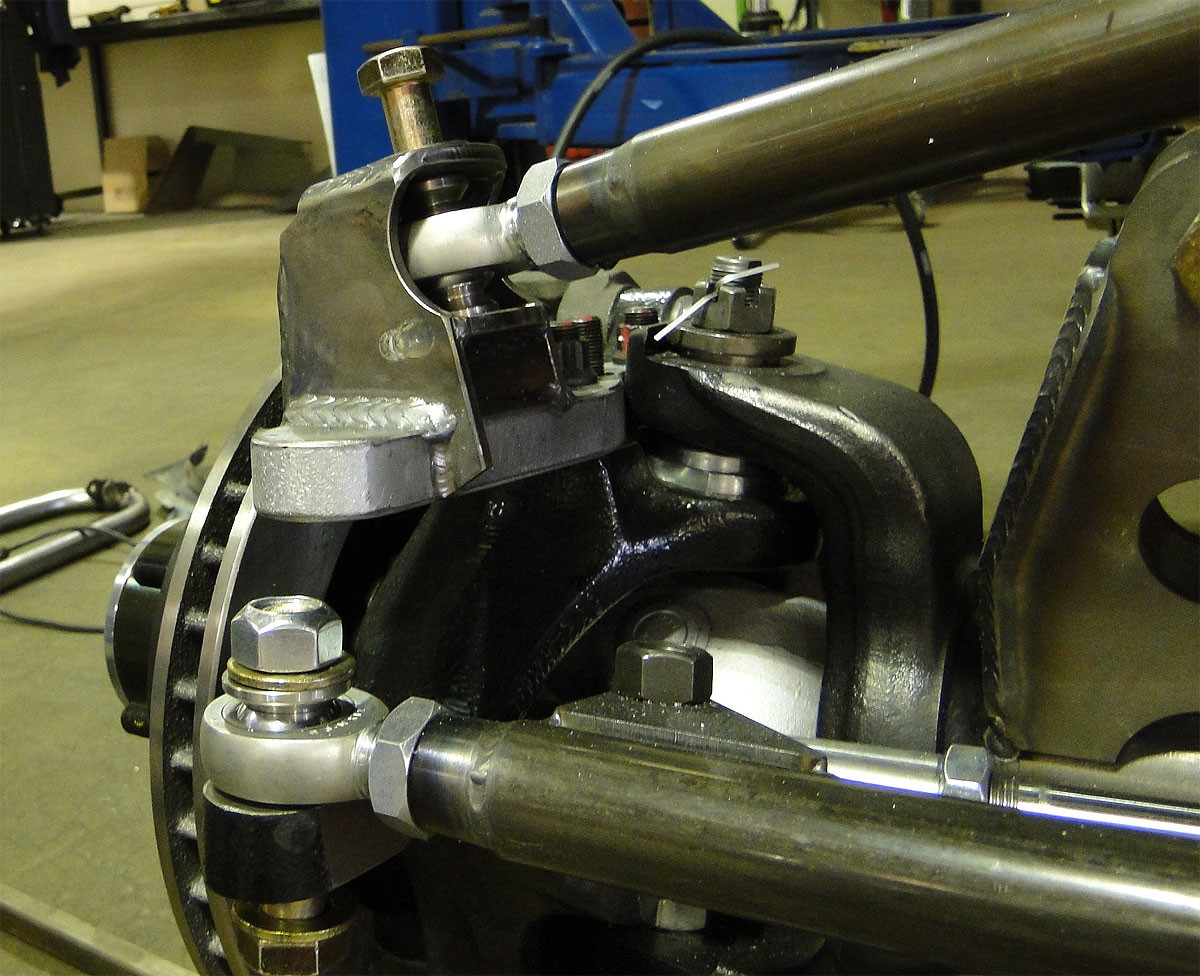 Hi-Steer arm shown here with GenRight mount welded on it.