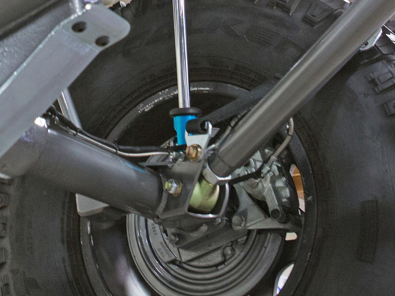 JK Elite Rear axle lower link, shock, and limit strap mount