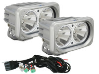 Optimus Dual Square Silver 10W LEDs 10° Narrow Beam (Kit, 2 Lights)