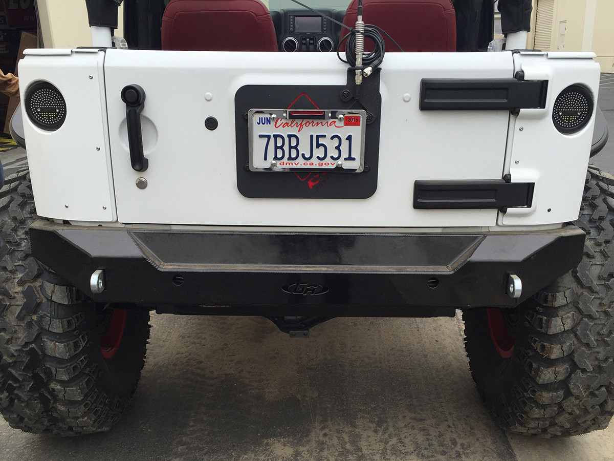 Jk Full Corner Guard Set 2 Door Genright Jeep Parts View Rear Of The Guards After Being Welded And Finished