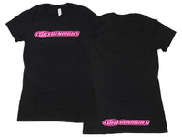 Women's GR Logo Tee (Heather Black/Hot Pink)