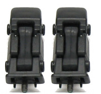 Original factory style replacement hood latches, black
