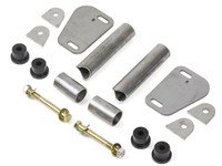 C-Pillar Tie In Kit parts for the Jeep Wrangler YJ, hardware included.