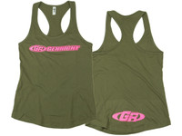 Womens GenRight Racer Back Tank Top (Military Green)