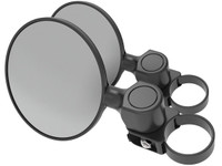 "Scosche BaseClamp™ 5"" Round Convex Side Mirrors (Pair)"