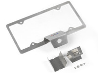 JL Rear view camera mount with integrated license plate frame for rear tire carrier
