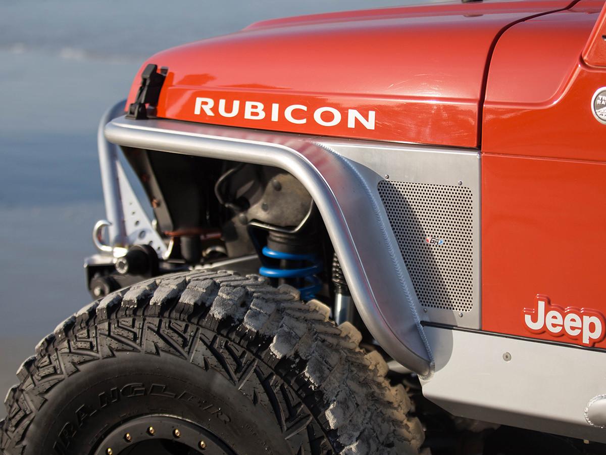 "Jeep Yj Fenders >> TJ/LJ 4"" Flare Front Tube Fenders - Aluminum   GenRight Jeep Parts"