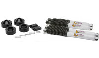"Daystar brand 1-3/4"" puck lift with longer off-road shocks for the Jeep JK"