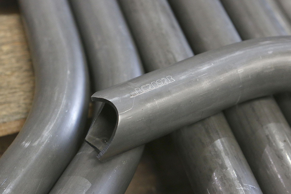 Tube notching is complex but clean enough to be TIG welded.
