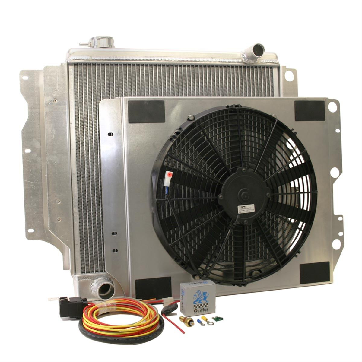 Griffin jeep tjljyj radiator wfan genright jeep parts griffin heavy duty jeep radiator with fan shroud and accessories 1987 2006 sciox Choice Image