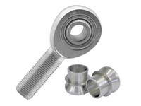 """RSMX12 FK Heim Rod End, LEFT hand w/high misalignment spacers reducing bore to 5/8"""""""