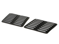 Hood Louver Set, 2pc Short - Black