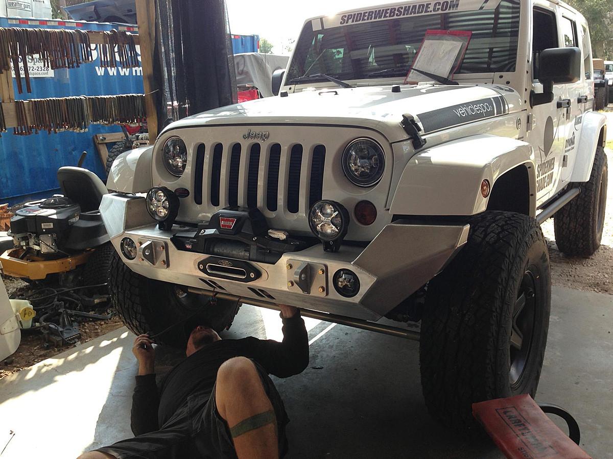 jk full width front bumper aluminum genright jeep parts. Black Bedroom Furniture Sets. Home Design Ideas