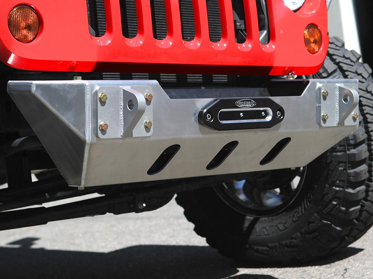JK Stubby Style Front Bumper - Aluminum