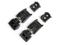 JK Aluminum Hood Latches, Black