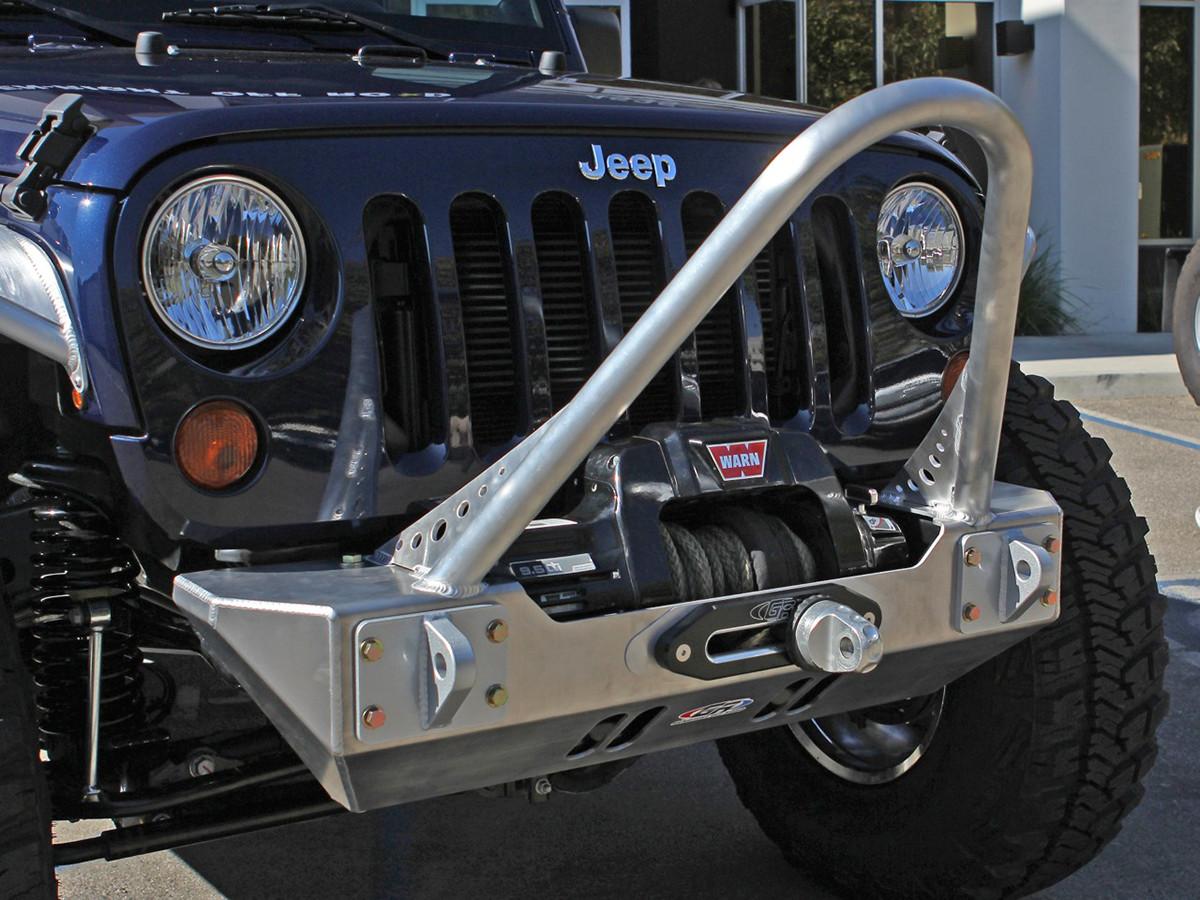 ... JK Boulder Stinger Front Bumper   Aluminum