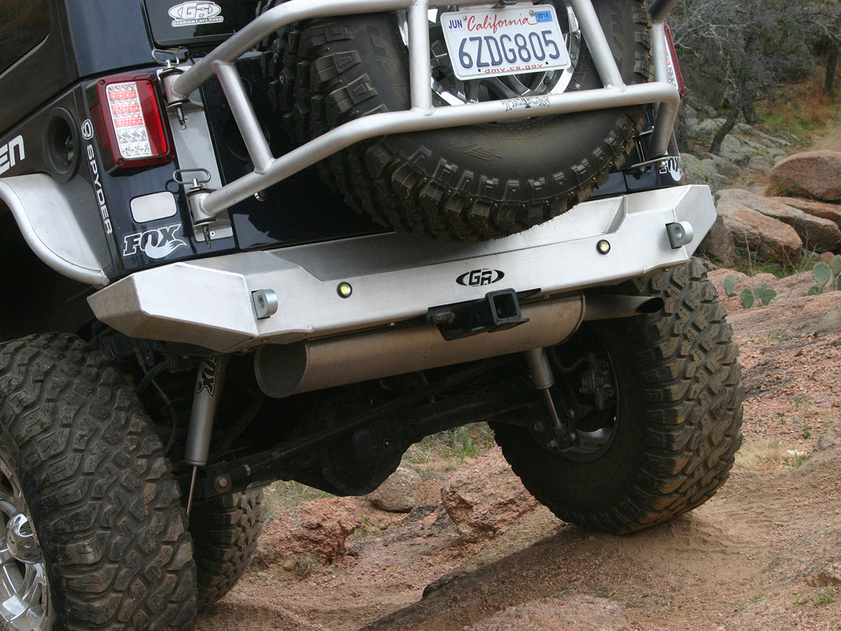 Jeep Jk Aluminum Rear Bumper Genright Jeep Parts