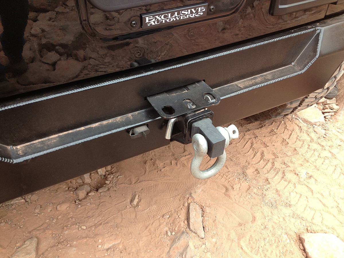 Here is a good picture of a clean factory receiver hitch that was flipped.
