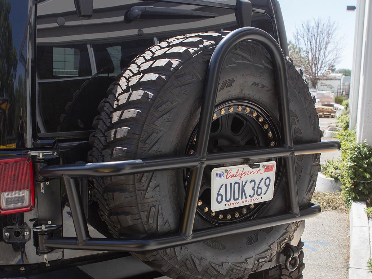 JK Swing Out Rear Tire Carrier Powder Coated Black