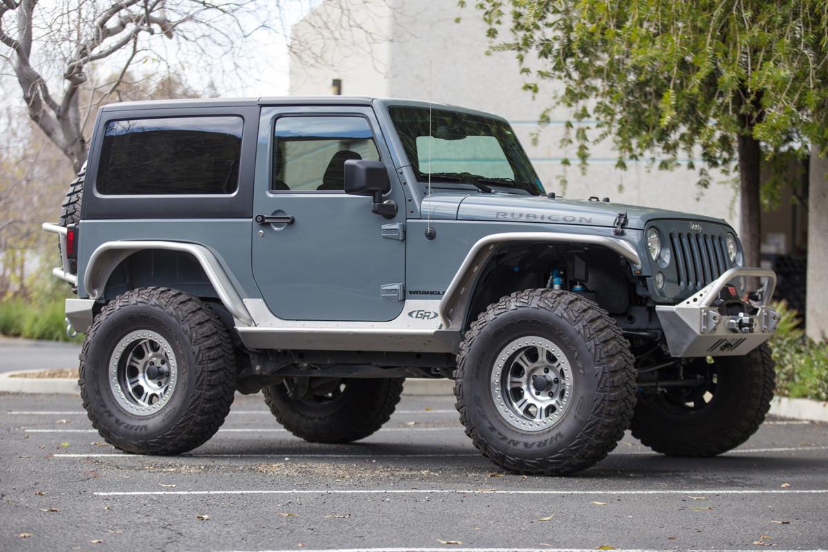 JK 2 Door Rocker Guards - Steel | GenRight Jeep Parts