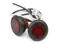 """LED 3/4"""" Red side marker lights"""