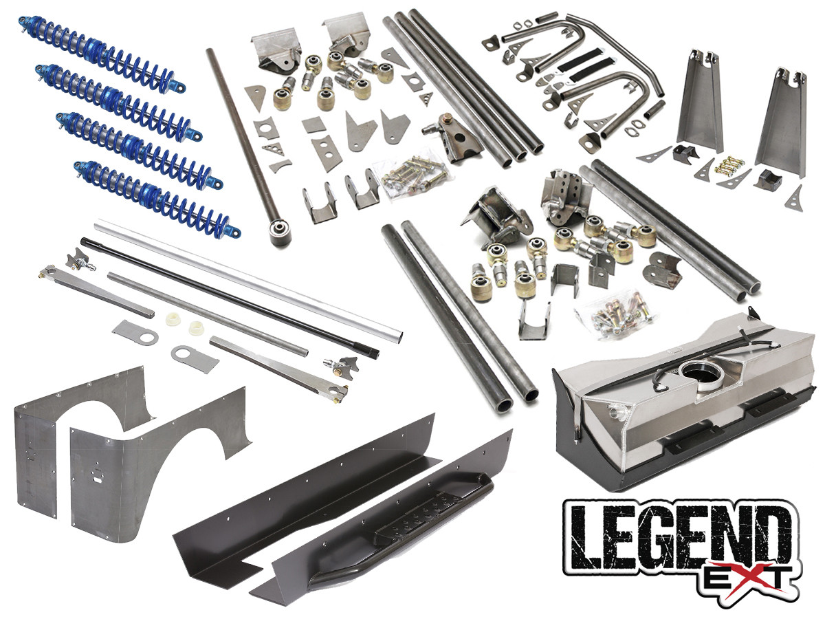 "Jeep TJ Legend EXT Suspension Package Provides 4-5"" Stretch"