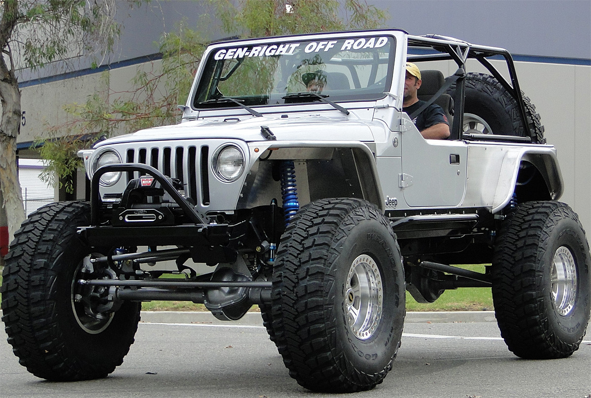 Jeep Wrangler Tj Build >> LJ Mini Boat Side Rocker Guards w/Bars - Steel | GenRight Jeep Parts