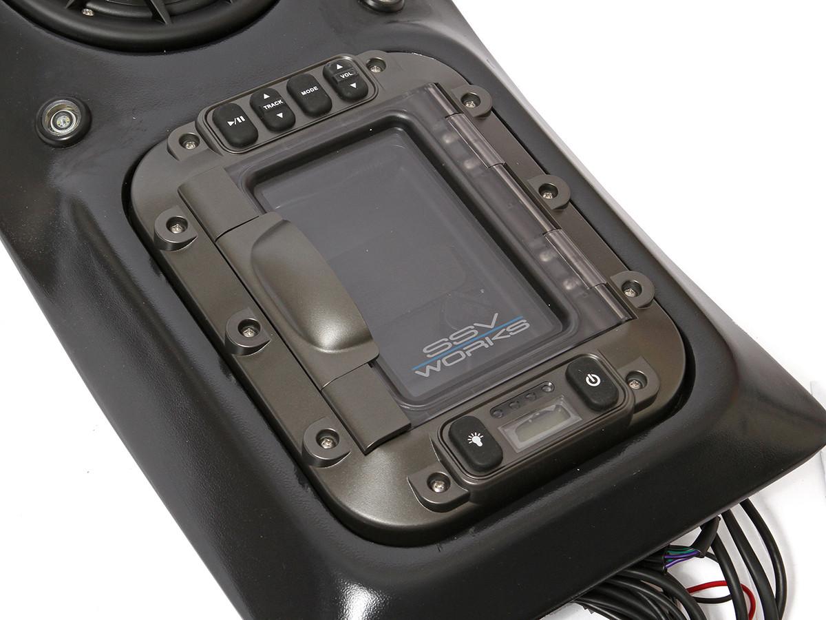 Sleek, sealed design securely holds your device