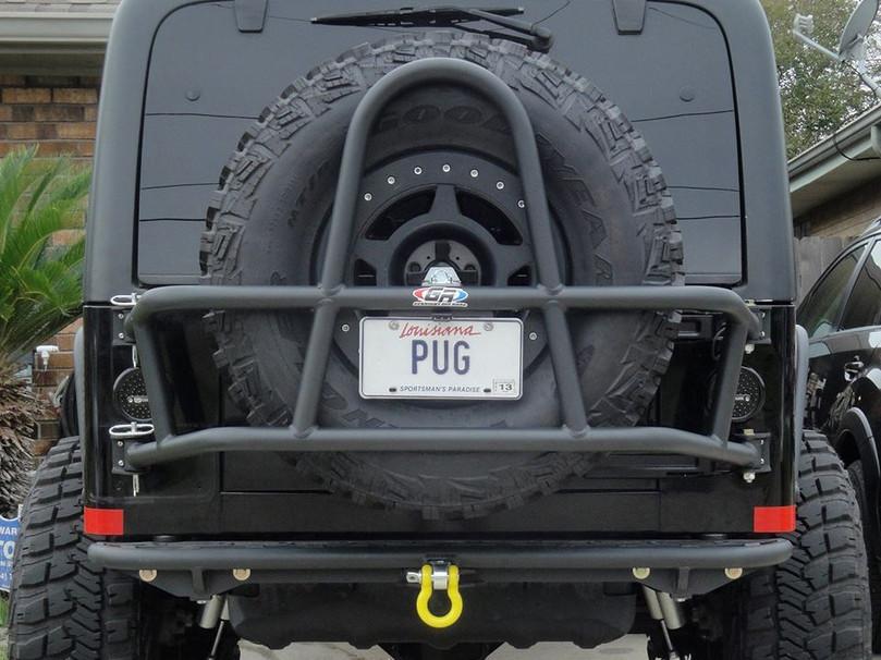 Jeep TJ/LJ Swing Out Rear Tire Carrier - Steel Powder Coated Black