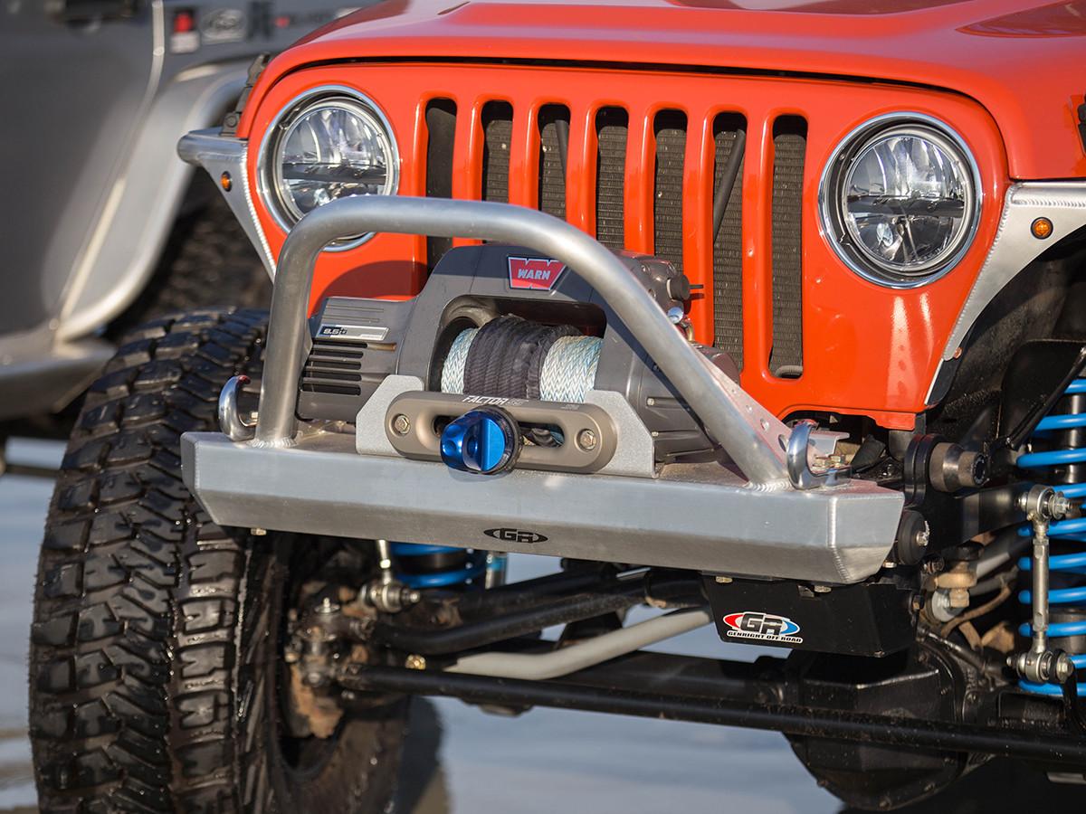 T Lj Winch Guard Front Bumper Aluminum Genright Jeep Parts