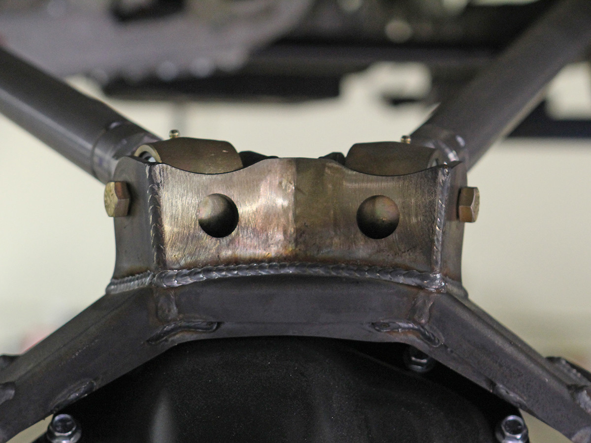 GenRight's Upper Rear Control Arm Mount for a Currie Rock Jock bridge Welded together.
