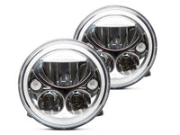 "Vision X 7"" Vortex LED Halo Headlight Set (Chrome)"