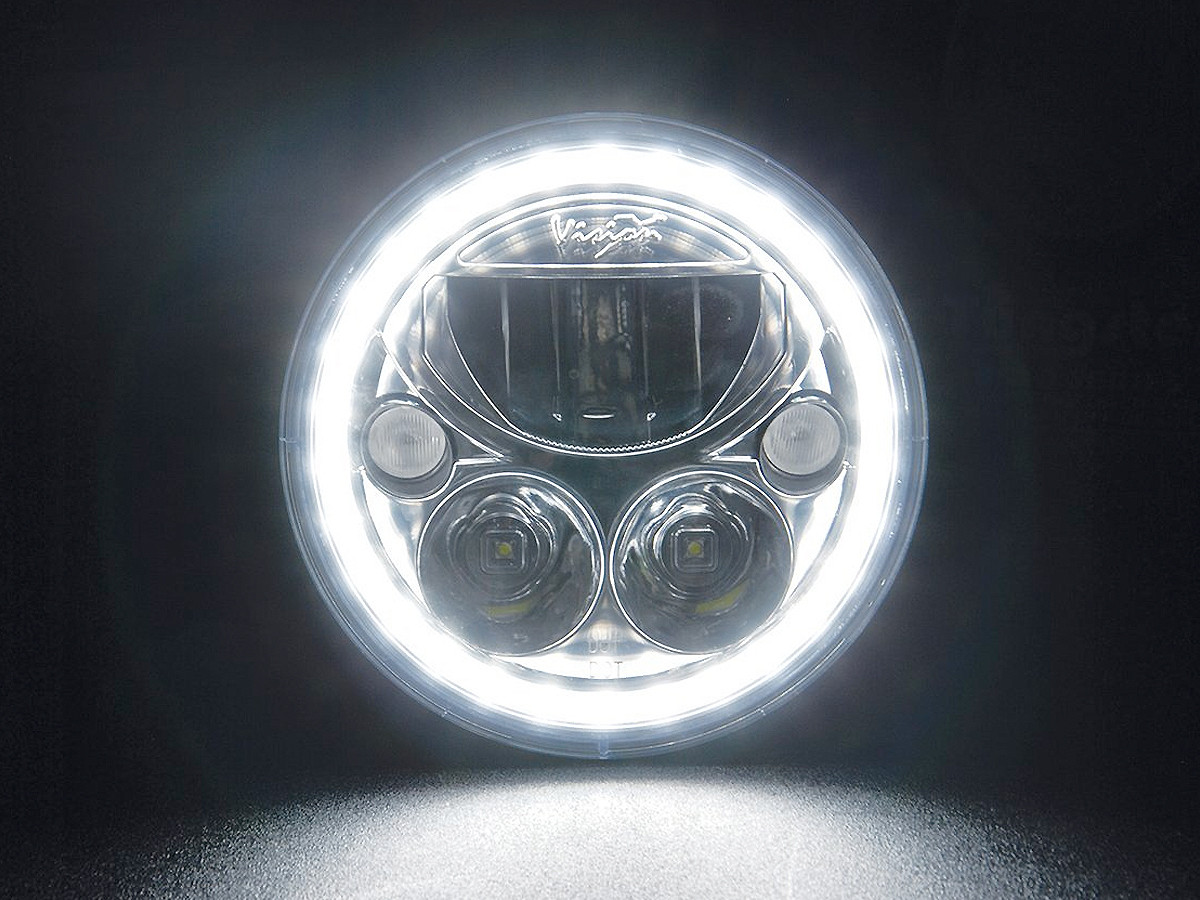 "Vision X 7"" Vortex LED Halo Headlight (Halo Lit)"