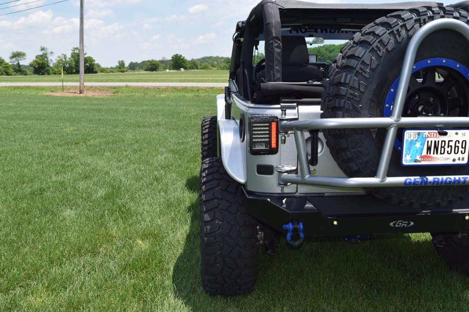 Jeep JK Narrow Front Tube Fenders - Aluminum rear view