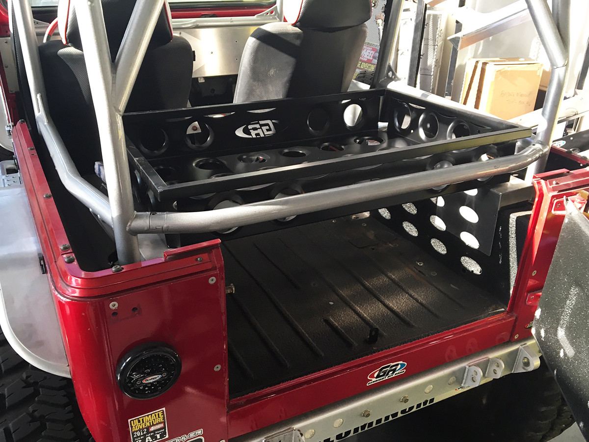 Installed on a Jeep YJ with GenRight Roll Cage
