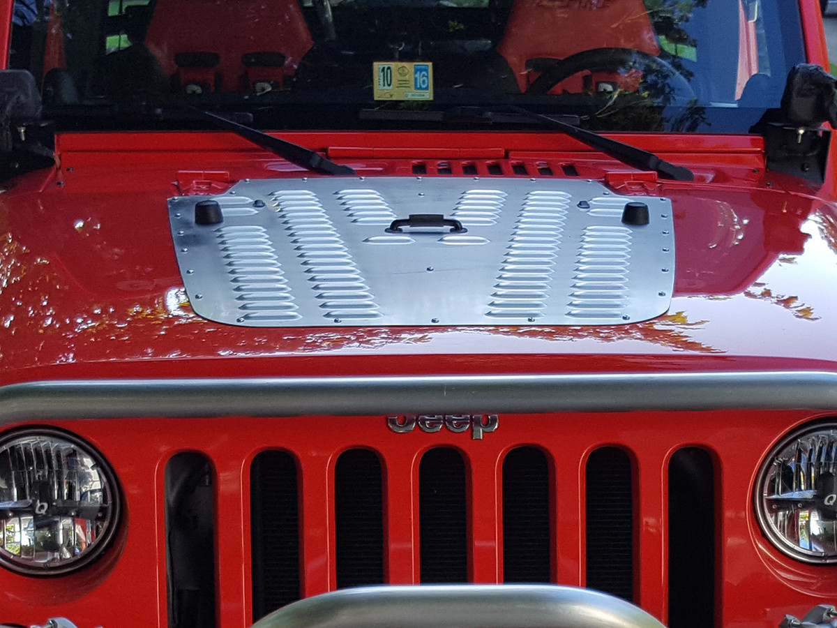 JK Whole Hood Louver shown installed