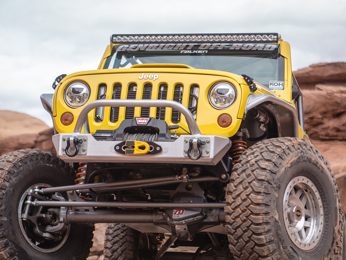 JK Narrow Front+Rear Tube Fender Package - Aluminum | GenRight Jeep Parts