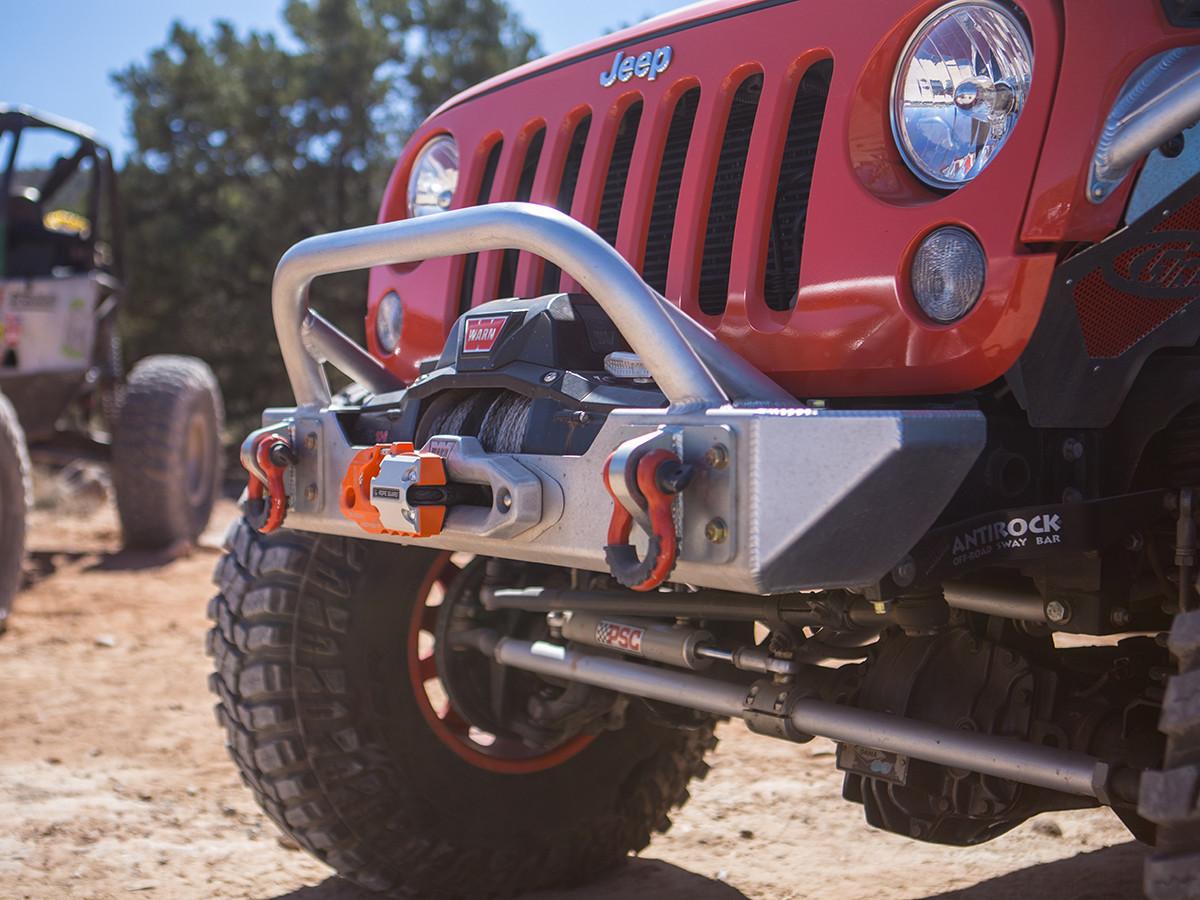 Ultra Clearance JK Lo-Pro Winch Guard Front Bumper - Aluminum