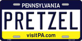 Pretzel Pennsylvania State Background Novelty Wholesale Metal License Plate