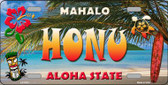 Honu Hawaii State Background Novelty Wholesale Metal License Plate